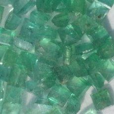 Coleccionismo de gemas: EXPECTACULAR ESMERALDA NATURAL TALLA CARRE AUTENTICO 2X2 MILIMETROS. Lote 95762358