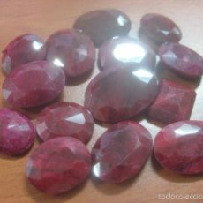 Coleccionismo de gemas: LOTE DE 15 RUBIES ROJOS OPACOS AUTENTICOS,TODOS PROBADOS CON TESTER Y DA 9 DE DUREZA, 310 QUILATES. Lote 61483250