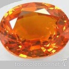 Coleccionismo de gemas: ZAFIRO NARANJA DE 13,75 KILATES - MIRAR DENTRO Y LEER DESCRIPCION VER FOTO - Nº10. Lote 60643833