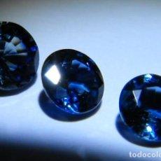 Coleccionismo de gemas: TRES BELLOS ZAFIROS AZULES NATURALES, PESO TOTAL 1,62 QUILATES ( ZAFIRO SIN TRATAMIENTO QUÍMICO ). Lote 72828671