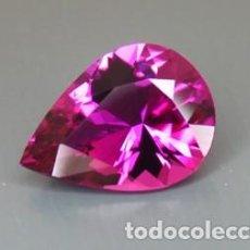 Coleccionismo de gemas: ZAFIRO LAGRIMA ROSA VAVACIUS DE 1,47 KILATES Y MIDE 9X7X4 MILIMETROS - Nº8. Lote 76196027