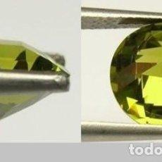 Coleccionismo de gemas: ZAFIRO VERDE MIEL TALLA BRILLANTE DE 0,24 KILATES Y MIDE 2X2X1,5 MILIMETROS - Nº16. Lote 133868582