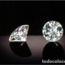 Coleccionismo de gemas: ZAFIRO BLANCO TALLA DIAMANTE DE 0,16 KILATES Y MIDE 3X3X2 MILIMETROS - Nº88. Lote 149759772