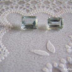 Coleccionismo de gemas: PAREJA DE AGUAMARINAS NATURALES. . Lote 115323012