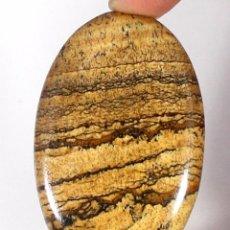 Coleccionismo de gemas: PIEDRA PRECIOSA JASPE NATURAL OVAL CABUJÓN GEMA. Lote 78054609
