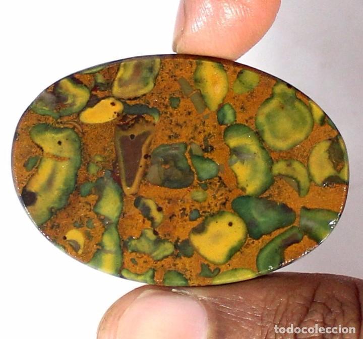 Coleccionismo de gemas: PIEDRA PRECIOSA - JASPE NATURAL CON PIEDRAS SUELTAS - CABUJÓN - GEMA - Foto 2 - 78055653