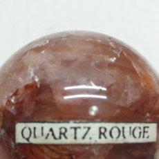 Coleccionismo de gemas: GEMA BOLA PULIDA QUARTZ ROUGE. Lote 78072226