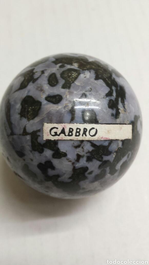 GEMA BOLA PULIDA GABBRO (Coleccionismo - Mineralogía - Gemas)