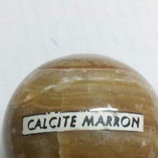 Coleccionismo de gemas: GEMA BOLA PULIDA CALCITE MARRÓN. Lote 78077022