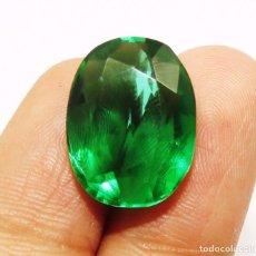 Coleccionismo de gemas: 11,90 CTS EXCELENTE. TOPACIO NATURAL COLOR VERDE TALLA OVAL. Lote 80808255