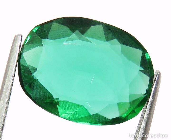 Coleccionismo de gemas: 11,90 CTS EXCELENTE. TOPACIO NATURAL COLOR VERDE TALLA OVAL - Foto 2 - 80808255
