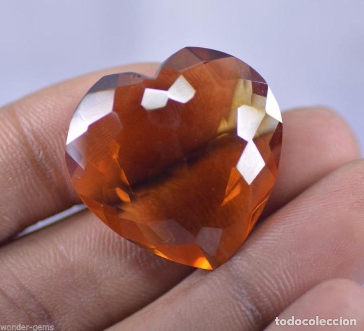 Coleccionismo de gemas: 40,00 CTS EXCELENTE CITRINO NATURAL TALLA CORAZON CERTIFICADO - Foto 3 - 81317504