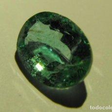 Coleccionismo de gemas: ESMERALDA NATURAL DE 1,73 QUILATES. CON CERTIFICADO GEMOLÓGICO. Lote 83696264