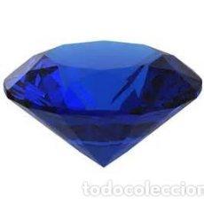 Coleccionismo de gemas: ENORME TOPACIO IMPERIAL AZUL VIOLETA TALLA DIAMANTE DE 93,50 KILATES Y MIDE 37X37X21 MILIMETROS-Nº4. Lote 83759408
