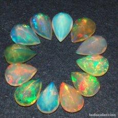 Coleccionismo de gemas: LOTE DE WELO ETIOPÍA NATURAL FACETAS OPAL VIBRANTE JUEGO DE COLORES - SIN TRATAMIENTO - 10 QUILATES. Lote 86233560