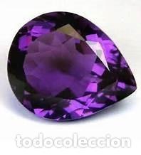 AMATISTA LAGRIMA VIOLETA DE 1,12 KILATES Y MIDE 10 X 7 X 4 MILIMETROS - Nº9 (Coleccionismo - Mineralogía - Gemas)