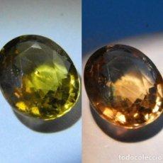 Coleccionismo de gemas: ZAFIRO NATURAL SIN TRATAR DE 1,64 QUILATES, CON CAMBIO DE COLOR. MUY RARO, VER FOTOS Y VIDEO. Lote 87690424