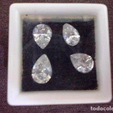 Coleccionismo de gemas: 4 CIRCONITAS TALLA LAGRIMA. Lote 87883796