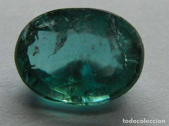 ESMERALDA NATURAL CON CERTIFICADO, DE 1,4 QUILATES. (Coleccionismo - Mineralogía - Gemas)