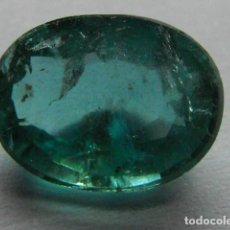 Coleccionismo de gemas: ESMERALDA NATURAL CON CERTIFICADO, DE 1,4 QUILATES.. Lote 116328608