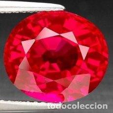 Coleccionismo de gemas: BONITO SAPPHIRE ZAFIRO ROJO TALLA DIAMANTE 14MM NUEVO. Lote 94752950