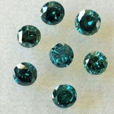 Coleccionismo de gemas: LOTE DE 9 DIAMANTES NATURALES CORTE REDONDO 1.37 CT. AUTENTICOS - AFRICA. Lote 96562315