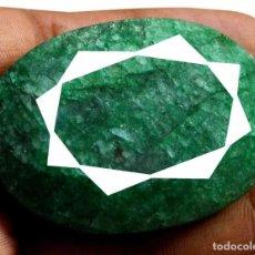 Coleccionismo de gemas: RARA Y GIGANTE ESMERALDA NATURAL 302 CT.. Lote 96677755