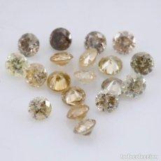 Coleccionismo de gemas: LOTE 19 DIAMANTES AUTENTICOS 0.31 CT. COLOR DE LA MEZCLA - REDONDO BRILLANTE AUSTRALIA 100% NATURAL. Lote 96692383