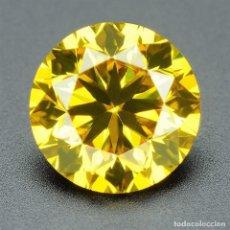 Coleccionismo de gemas: DIAMANTE CERTIFICADO AUTENTICO NATURAL .031 CTS COLOR AMARILLO VS REAL 1/C. Lote 96785595