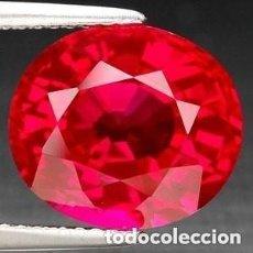 Coleccionismo de gemas: BONITO SAPPHIRE ZAFIRO ROJO SANGRE TALLA DIAMANTE 14MM NUEVO. Lote 96786811