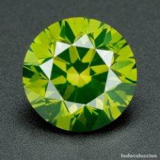 Coleccionismo de gemas: DIAMANTE CERTIFICADO AUTENTICO NATURAL .032 CTS COLOR VERDE REAL 2H . Lote 96833631