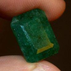 Coleccionismo de gemas: BONITA ESMERALDA 100 % NATURAL COLOMBIA 8.05 CT CON CERTIFICADO GGL . Lote 96946859