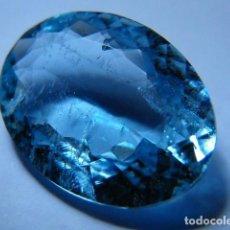 Coleccionismo de gemas: AGUAMARINA NATURAL Y SIN TRATAMIENTO DE 2,59 QUILATES. VER FOTOS Y VIDEO.. Lote 97112431