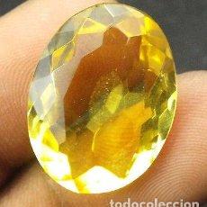 Coleccionismo de gemas: CITRINO DE BRASIL 16,10 CT CON CERTIFICADO DE AUTENTICIDAD. Lote 97418219