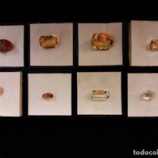 Coleccionismo de gemas: 7 CUARZOS CITRINOS NATURALES +1 TRATADO. Lote 97708283
