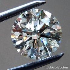 Coleccionismo de gemas: DIAMANTE .042 CTS. CORTE REDONDO BLANCO-F/G COLOR SUELTO REAL/2 A DIAMANTE NATURAL CERTIFICADO IGR. Lote 98888307