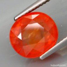 Coleccionismo de gemas: ZAFIRO NATURAL NARANJA 5.45 QUILATES + CERTIFICADO IGE, INSTITUTO GEMOLOGICO ESPANOL.. Lote 100231099