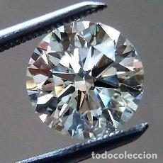 Coleccionismo de gemas: DIAMANTE 100% NATURAL 3H SUELTO REAL 0.033 1.9 MM REDONDO BLANCO-F / G CON CERTICADO IGR . Lote 102080379