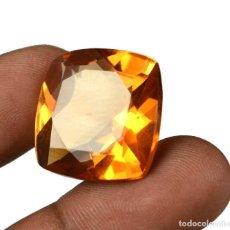 Coleccionismo de gemas: CITRINO AMARILLO 31.30 CTS 20 X 20 X 12 MM CON CERTIFICADO DE LABORATORIO IGL. Lote 102218143