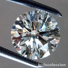 Coleccionismo de gemas: DIAMANTE .052 CTS. CORTE REDONDO BLANCO-F/G COLOR SUELTO REAL/2E DIAMANTE NATURAL CERTIFICADO IGR. Lote 102442859