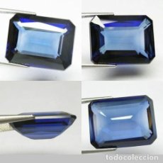 Coleccionismo de gemas: ZAFIRO AZUL ATERCIOPELADO DE 12,35 KILATES - MEDIDA 1,6 X 1,2 X 0,8 CENTIMETROS - Nº46. Lote 102479763