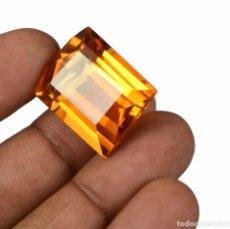 Coleccionismo de gemas: CITRINO AMARILLO 33.40 CTS 23 X 18 X 11 MM CON CERTIFICADO DE LABORATORIO IGL . Lote 103080611