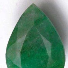 Coleccionismo de gemas: ESMERALDA NATURAL - 38.10 CT. - 26.57 X 18.61 X 10.40 MM. - CON CERTIFICADO. Lote 103342255