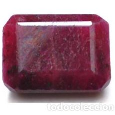 Coleccionismo de gemas: RUBI NATURAL - 51.90 CT. - 22.55 X 16.80 X 10.80 MM. - CON CERTIFICADO. Lote 103343107