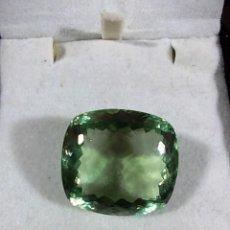 Coleccionismo de gemas: MAGNIFICA AMATISTA DE 38,40 CTS EN UN COLOR VERDE OLIVO INTENSO. Lote 103519891