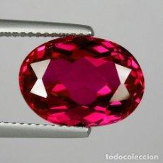 Coleccionismo de gemas: RUBI ROJO CARAMELO OVAL DE 1,91 KILATES - Nº101. Lote 104714575