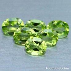 Coleccionismo de gemas: PERIDOTO OVAL 5 X 4 MM.. Lote 192174023