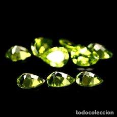 Coleccionismo de gemas: PERIDOTO PERA O LAGRIMA 7 X 5 MM.. Lote 161119145