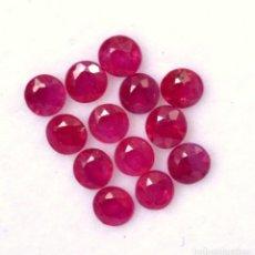 Coleccionismo de gemas: RUBI TALLA REDONDA 6 MM.. Lote 104910419