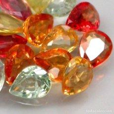 Coleccionismo de gemas: ZAFIRO NARANJA PERA O LAGRIMA 5X 4 MM.. Lote 104912155